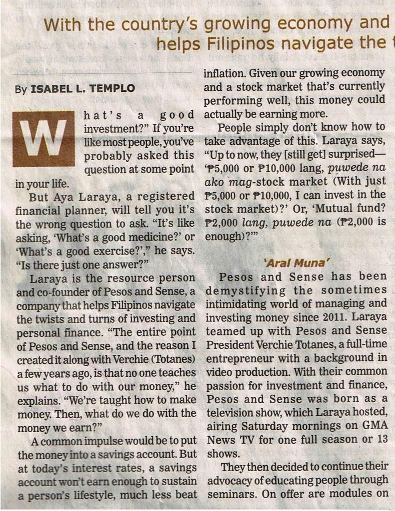 Investing 101 - Manila Bulletin