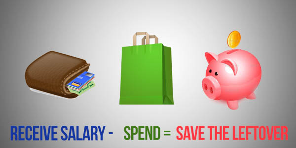"Saving Habit of Filipinos ""Receive Salary -Spend =Save the leftover"