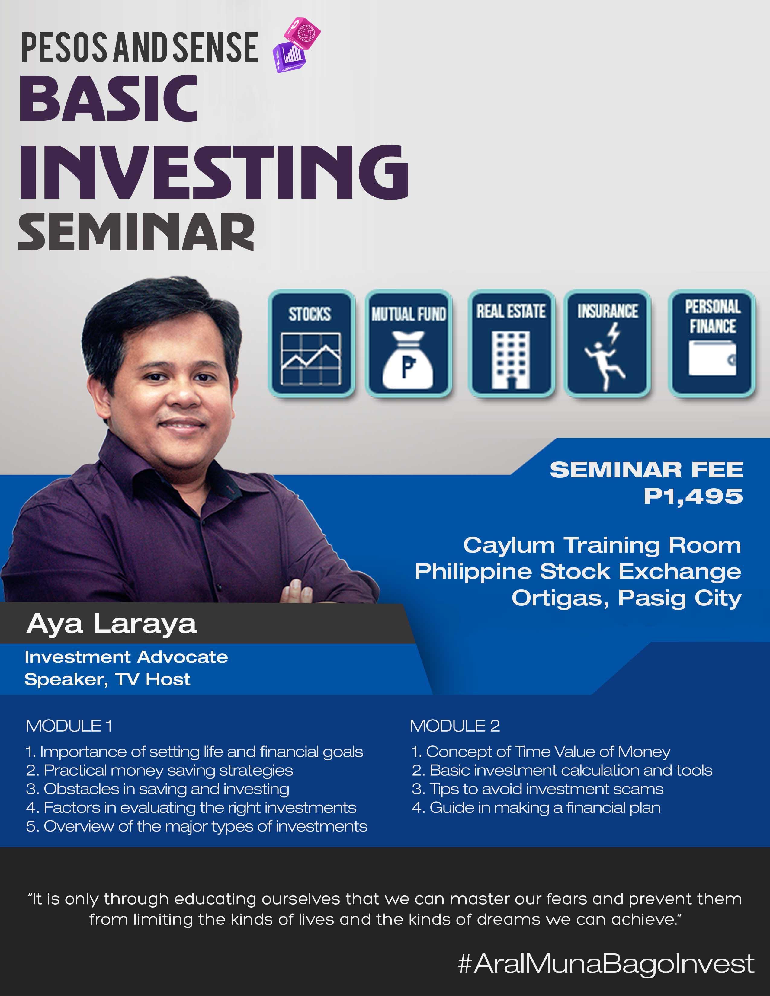 basic investing seminar page
